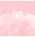 beautiful frame for design on a pink background vector image