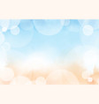 beautiful summer beach and blue ocean top view vector image vector image