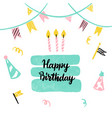 birthday cake greeting card vector image
