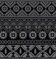 black native american ethnic pattern vector image vector image
