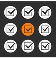 Black ticks or check marks vector image