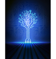 blue circuit tree vector image vector image