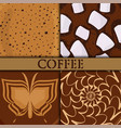 brown background coffee bubble chocolate cocoa vector image vector image
