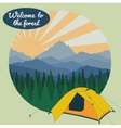 camp in forest vector image vector image