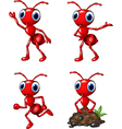 Cartoon funny ant isolated on white background vector image vector image