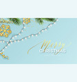 christmas banner realistic sparkling garland vector image vector image