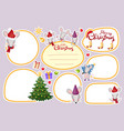 collection frame stickers labels patch vector image