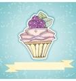 Cupcake invitation card vector image vector image