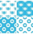Dishware patterns set vector image vector image