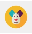 Dog flat icon with long shadow vector image vector image