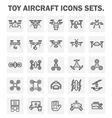 Drone icon 40 cp vector image