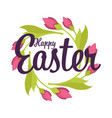 easter holiday isolated icon tulip flowers vector image