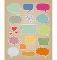 et of multicolored speech bubbles vector image vector image