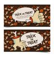 evil halloween horizontal banners vector image vector image