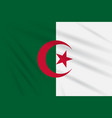 flag algeria swaying in the wind realistic vector image
