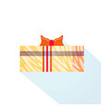 gift box wrapped ribbon holiday present isolated vector image