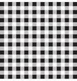 gingham tablecloth pattern background black and wh vector image