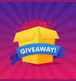 giveaway poster template design for social media vector image vector image