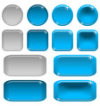 Glass buttons set vector image vector image
