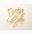golden metallic shiny typography easter sale 3d vector image vector image