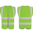 green safety vest vector image vector image