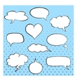 Hand-drawn speech bubbles template Collection of vector image