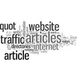 how to jam your website with traffic vector image vector image