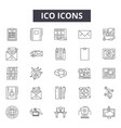 ico concept line icons signs set linear vector image