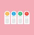 icons sample isolated on cute colorful circles vector image vector image