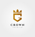 initial logo letter g with crown symbol design vector image