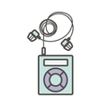 Isolated mp3 device design vector image vector image