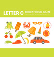 letter c educational game for kids template vector image vector image