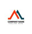 m company logo template design vector image vector image