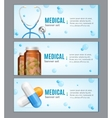 Medical Banner Horizontal Set vector image vector image