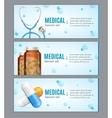 Medical Banner Horizontal Set vector image