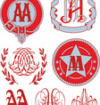 monograms AA vector image