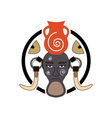 mursi-tribe-sign vector image vector image