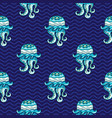 ocean pattern seamless texture series vector image vector image
