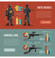 Paintball Banners Set vector image vector image
