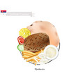 pljeskavica or meat patties the national dish of vector image vector image