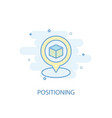 positioning line concept simple line icon vector image vector image