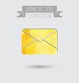postal envelope e-mail symbol icon envelope vector image vector image