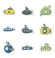 punt icons set flat style vector image vector image