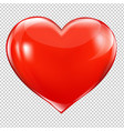 red heart symbol vector image vector image