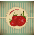 ripe strawberry card vector image vector image