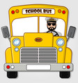 school bus isolated on a white background vector image vector image