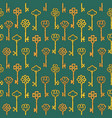 seamless pattern with beautiful vintage key vector image vector image