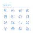 set color line icons beer vector image vector image