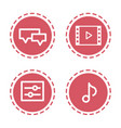 set different mobile app social media icons web vector image