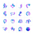 set icons for cosmetics and beauty vector image vector image